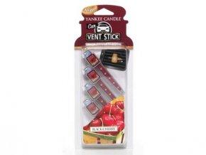 Yankee Candle Black cherry vonné kolíčky do auta 4 ks