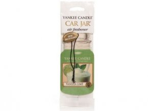Yankee Candle Vanilla lime papírová visačka do auta 1 ks