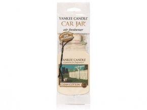 Yankee Candle Clean cotton papírová visačka do auta 1 ks