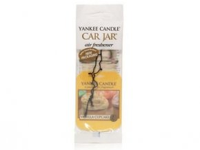 Yankee Candle Vanilla cupcake papírová visačka do auta 1 ks