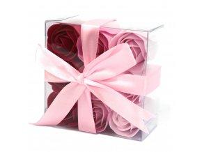 Mýdlové květy růžová růže-sada 9ks 60 g
