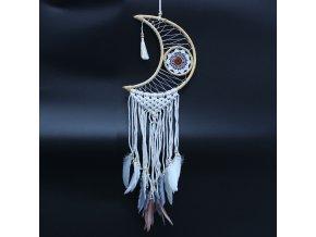 Lapač snů - macramé měsíc 75 cm