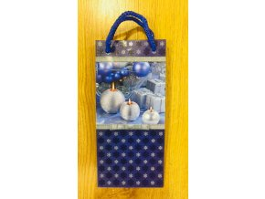 Vánoční papírová dárková taška 10 x 22 x 6 cm