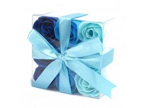Mýdlové květy modrá růže-sada 9ks 60 g