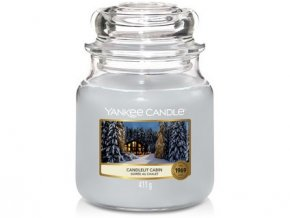 VONNÁ SVÍČKA Yankee Candle Candlelit Cabin 411g