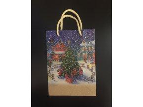 Vánoční dárková taška 13 x 18 cm