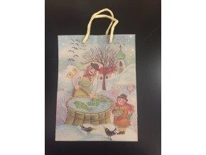 Vánoční dárková taška 18,3 x 24,3 cm