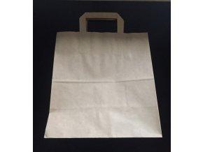 Dárková taška světle hnědá 26 x 28 cm