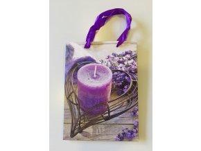 Dárková taška s motivem levandule