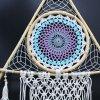 Lapač snů pyramida bílá+tyrkysová  100 cm