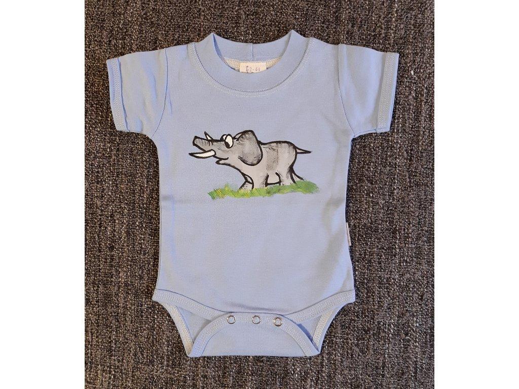 Ručně malované dětské body - slon