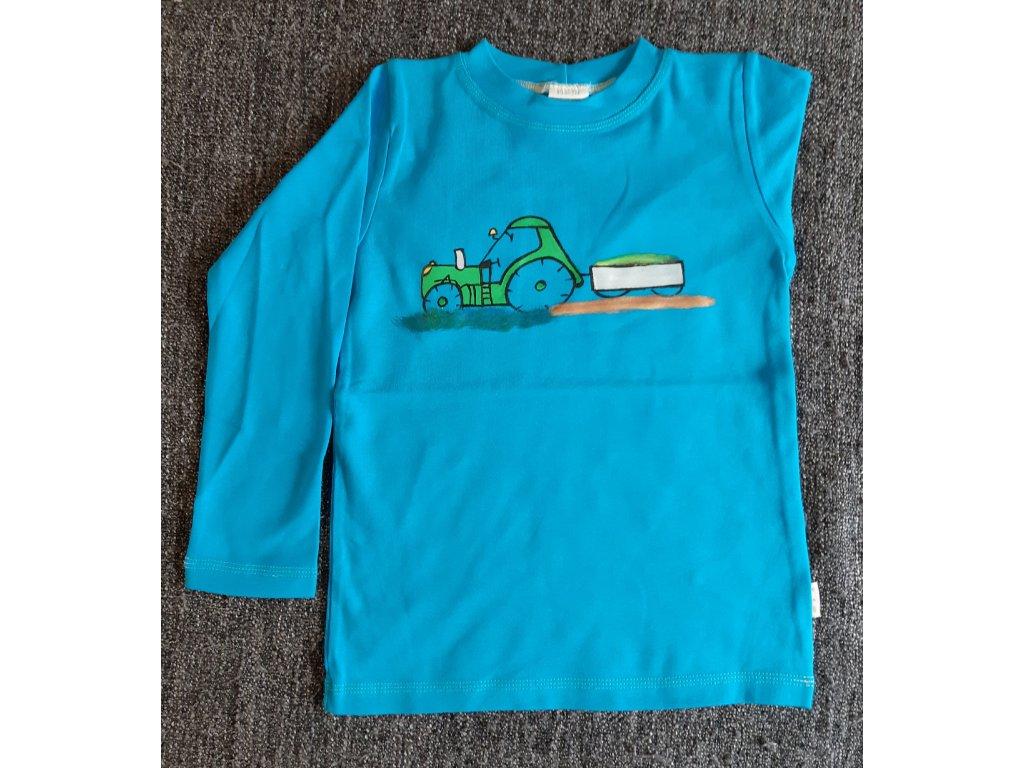 Ručně malované tričko - traktor 1