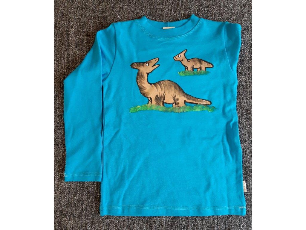 Ručně malované tričko - dinosaur 1