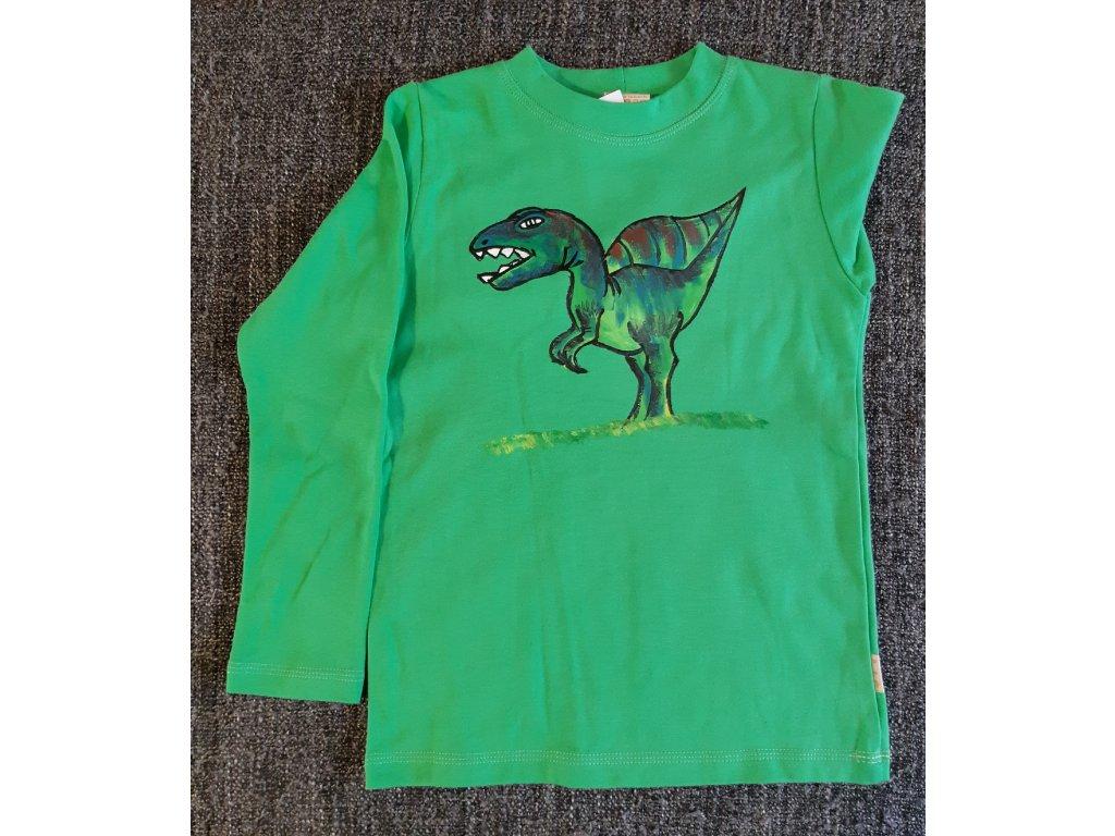 Ručně malované tričko - dinosaur 2