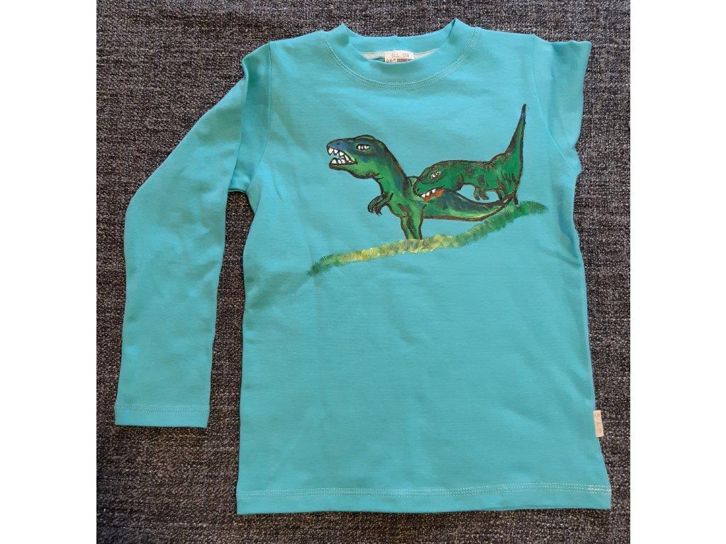 Ručně malované tričko - dinosaur 3