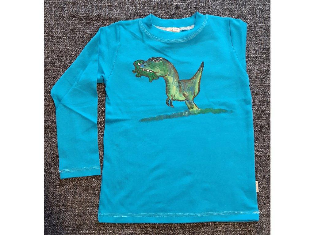 Ručně malované tričko - dinosaur 4