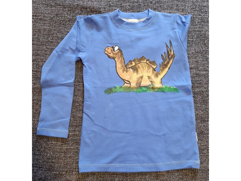 Ručně malované tričko - dinosaur 5