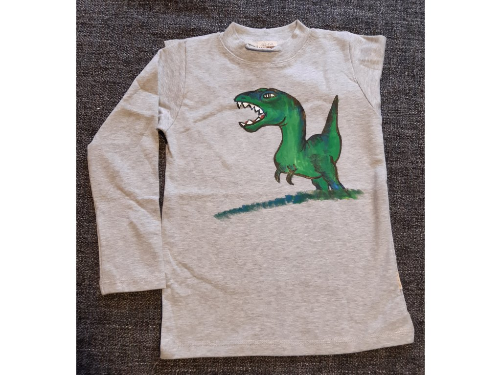 Ručně malované tričko - dinosaur 6