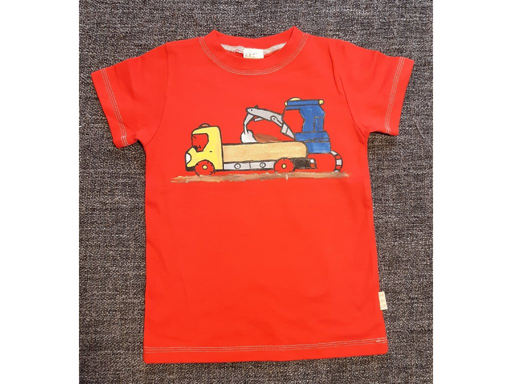Ručně malované tričko - stavba 2