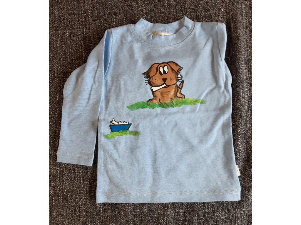 Ručně malované tričko - pejsek
