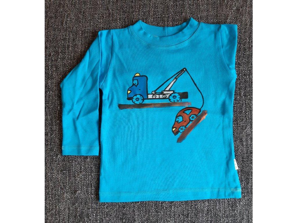 Ručně malované tričko - tahač