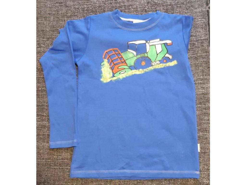 Ručně malované tričko - kombajn