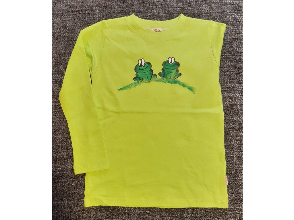 Ručně malované tričko - dvě žabky