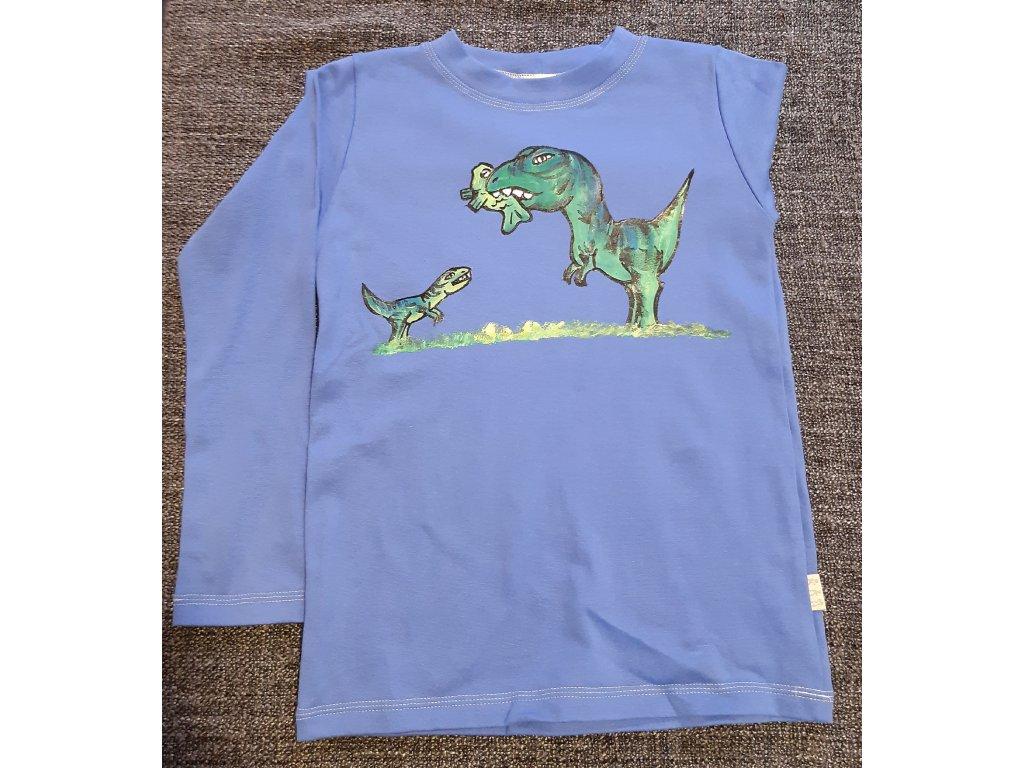 Ručně malované tričko - dinosauři