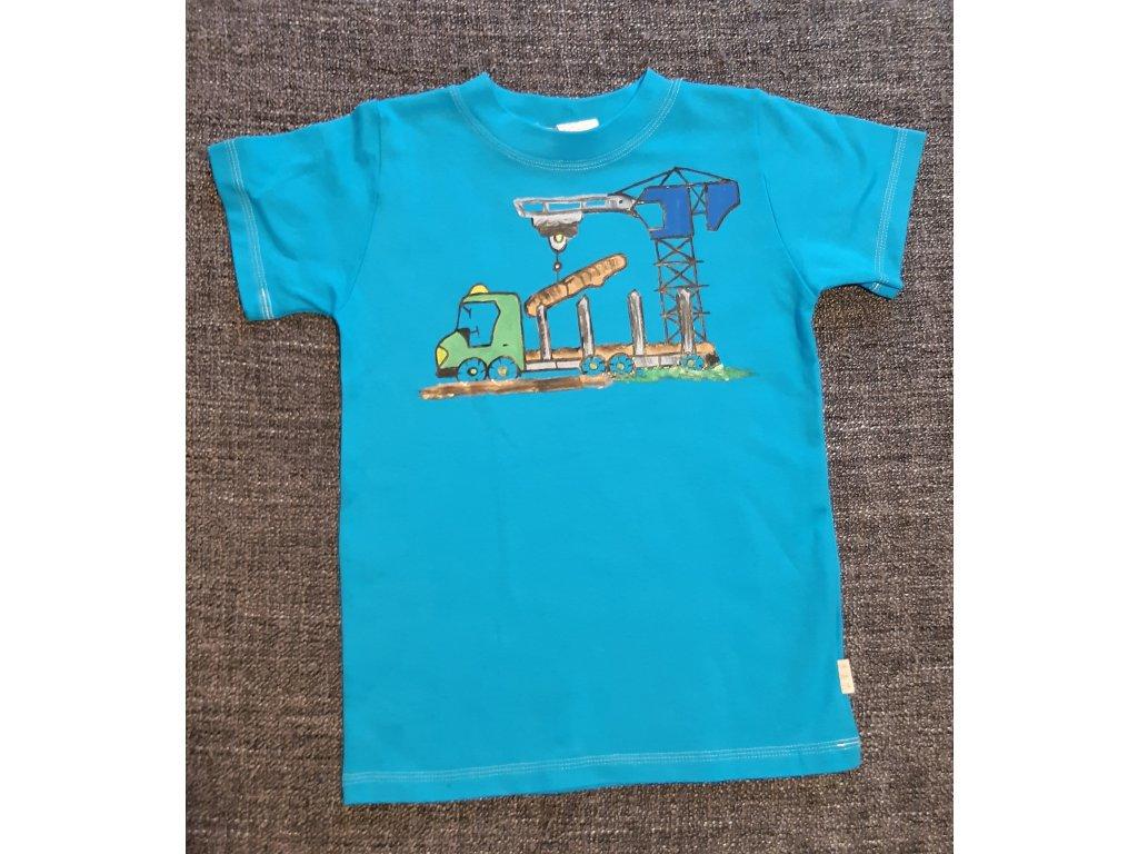 Ručně malované tričko - stavba