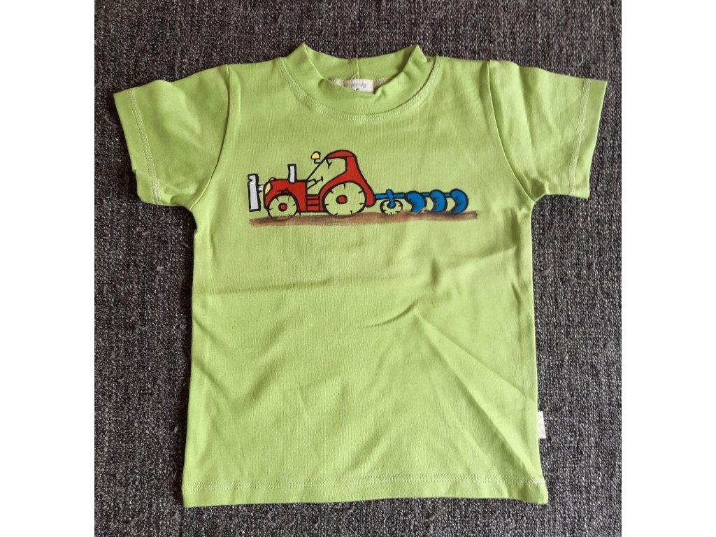 Ručně malované tričko - traktor