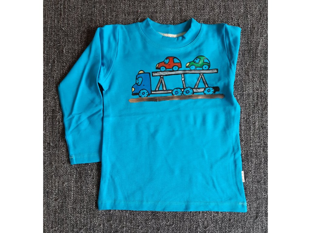 Ručně malované tričko - auto na auta
