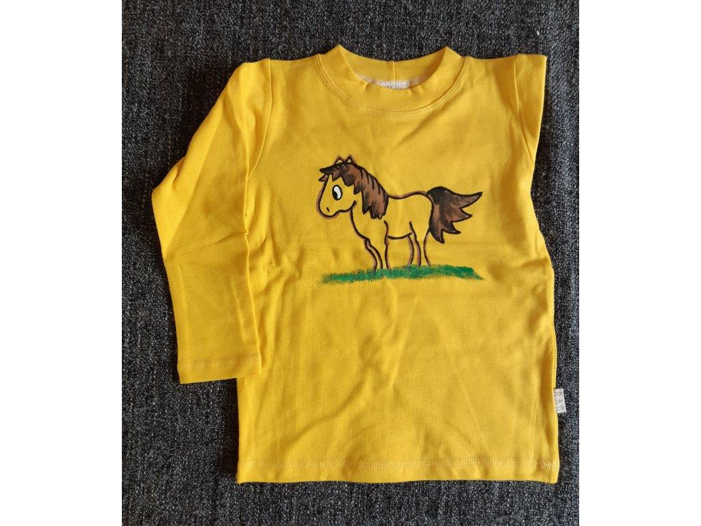 Ručně malované tričko - koník