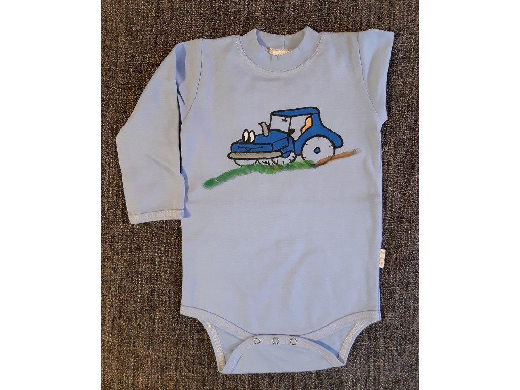 Ručně malované dětské body - traktor