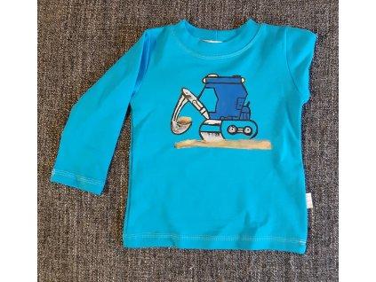 Ručně malované tričko - bagr
