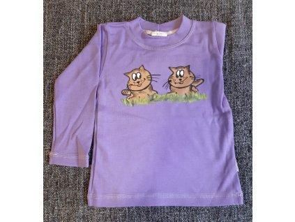 Ručně malované tričko - dvě kočičky