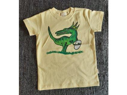 Ručně malované tričko - dinosaurus