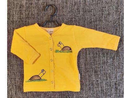Ručně malovaný dětský propínací kabátek - dvě želvy
