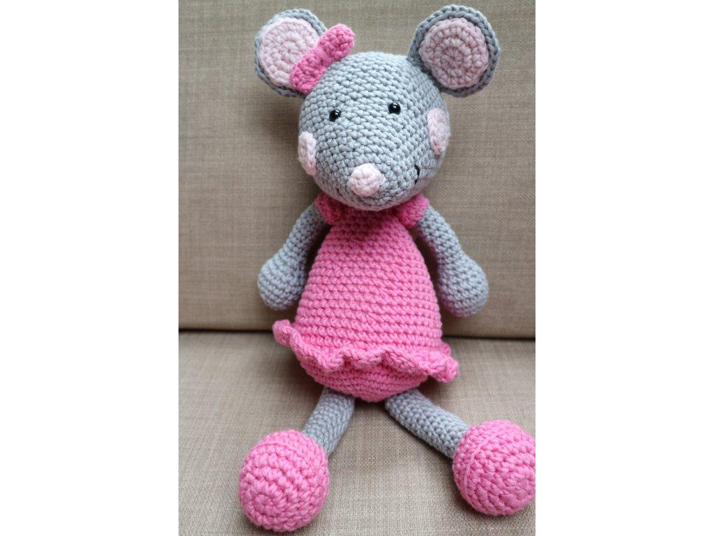 Myška střední růžová