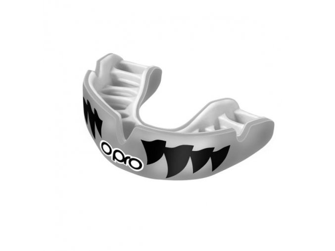 OPRO Power-Fit chránič zubů jaws silver white