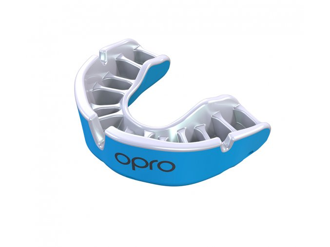 Junior gold Sky Blue Pearl Fins Mouthguard