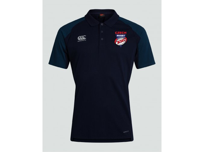 Canterbury CZRLA Pro II Vapodri Performance Cotton Polo Navy