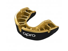 Gold Mouthguard Black Gold Fins WHITE LOGO