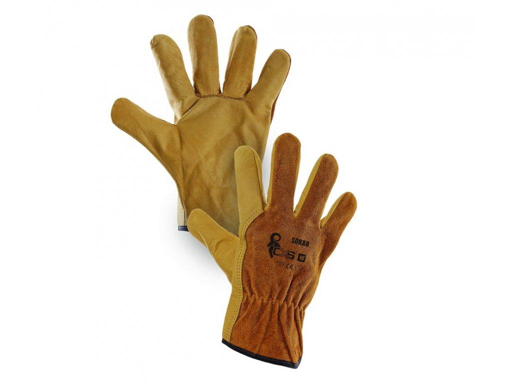 957a5d5a8fc Kožené kvalitní pracovní rukavice sokar