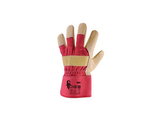 Kombinované kožené pracovní rukavice BUDY