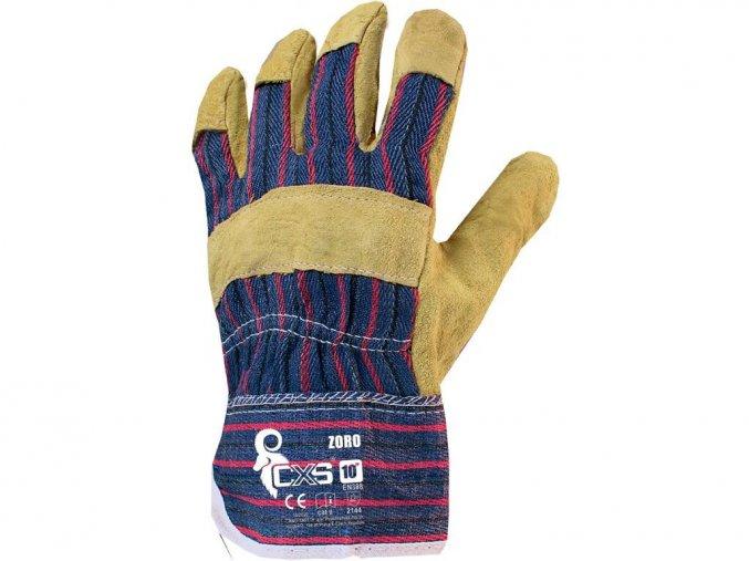 kombinované pracovní rukavice zoro
