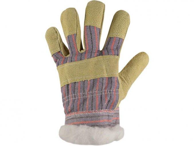 Kombinované pracovní rukavice zoro winter