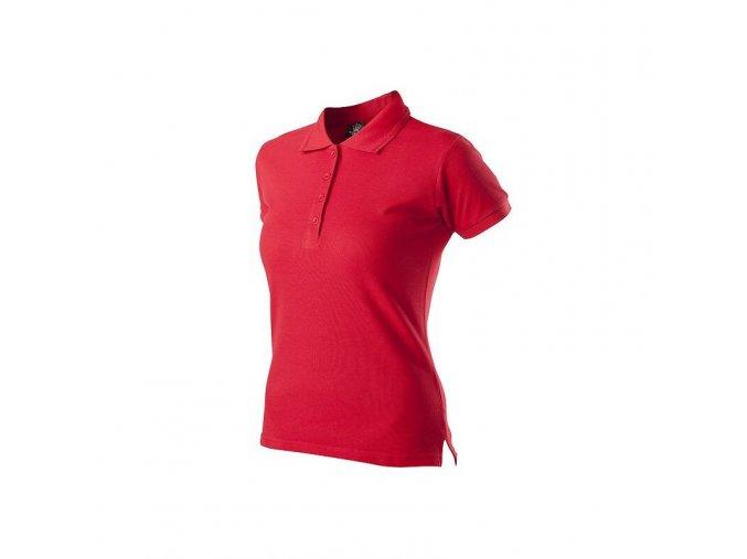 Červená pracovní polo košile