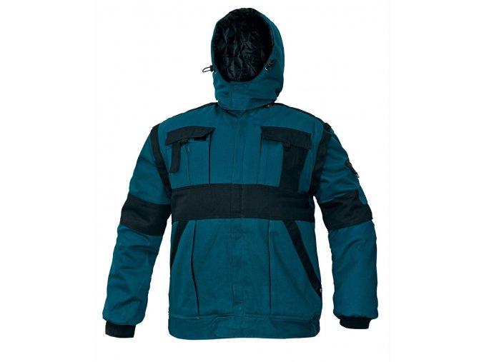 Zimní montérková bunda zelená