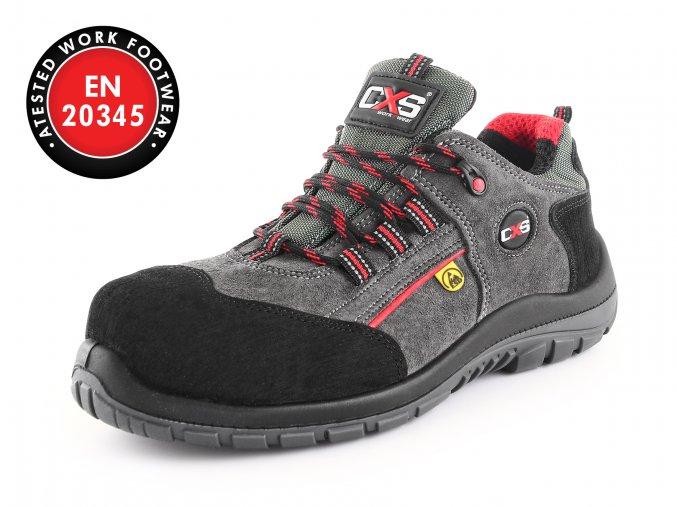 Kvalitní kožená pracovní bota graphite S1P