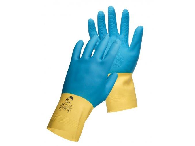Pracovní latexové rukavice caspia